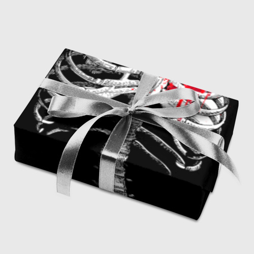 Бумага для упаковки 3D  Фото 05, Скелет с сердцем