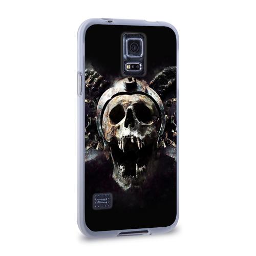 Чехол для Samsung Galaxy S5 силиконовый  Фото 02, Череп с рогами