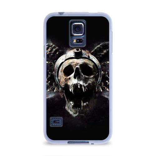 Чехол для Samsung Galaxy S5 силиконовый  Фото 01, Череп с рогами