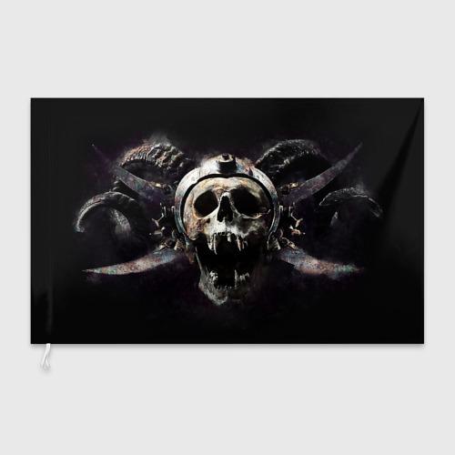 Флаг 3D  Фото 03, Череп с рогами