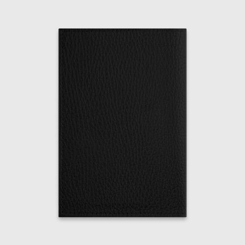 Обложка для паспорта матовая кожа  Фото 02, Череп с рогами