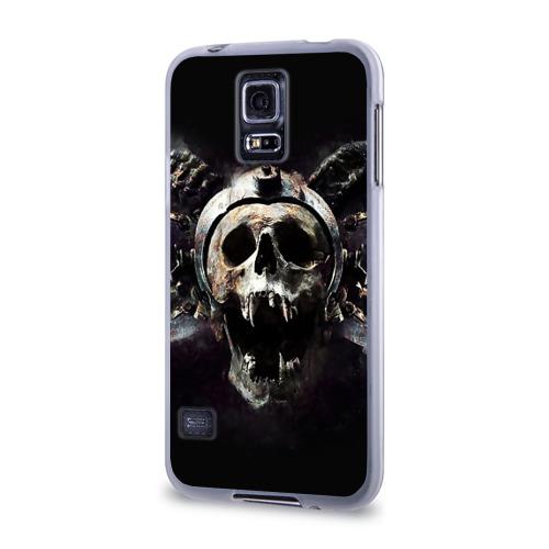 Чехол для Samsung Galaxy S5 силиконовый  Фото 03, Череп с рогами