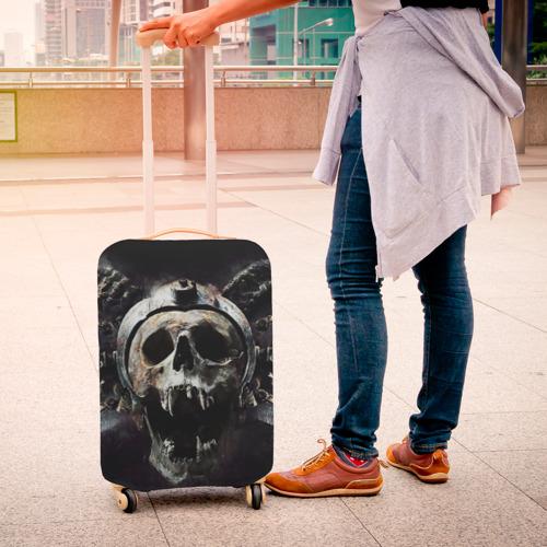 Чехол для чемодана 3D  Фото 04, Череп с рогами