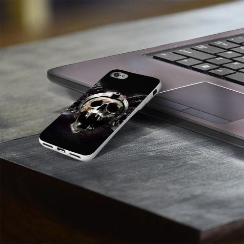 Чехол для Apple iPhone 8 силиконовый глянцевый  Фото 03, Череп с рогами