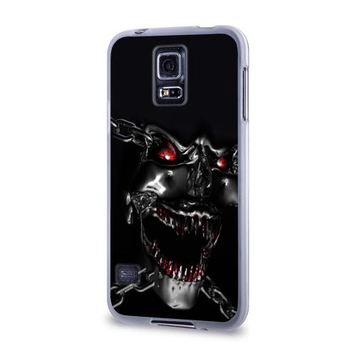 Чехол для Samsung Galaxy S5 силиконовый  Фото 03, Череп в цепях