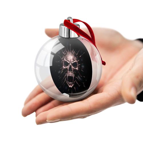 Ёлочный шар  Фото 02, Scary skull