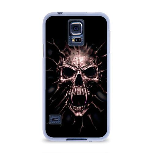 Чехол для Samsung Galaxy S5 силиконовый  Фото 01, Scary skull