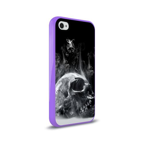 Чехол для Apple iPhone 4/4S силиконовый глянцевый  Фото 02, Skull