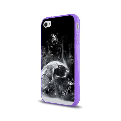 Чехол для Apple iPhone 4/4S силиконовый глянцевый  Фото 03, Skull