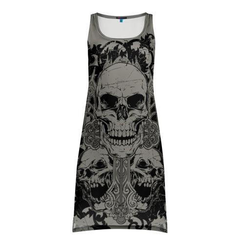 Платье-майка 3D Skulls
