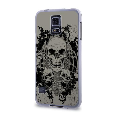 Чехол для Samsung Galaxy S5 силиконовый  Фото 03, Skulls