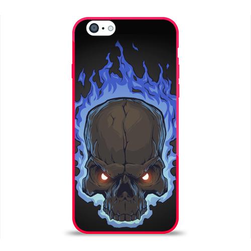 Чехол для Apple iPhone 6 силиконовый глянцевый  Фото 01, Fire skull