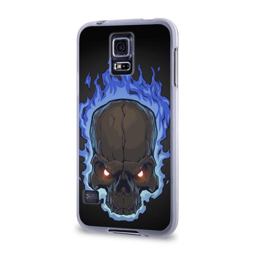 Чехол для Samsung Galaxy S5 силиконовый  Фото 03, Fire skull