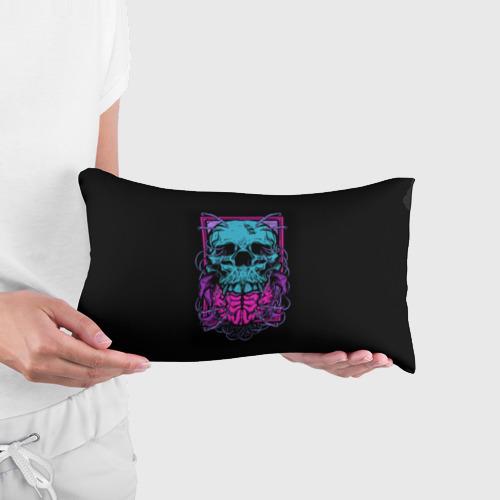 Подушка 3D антистресс  Фото 03, Кислотный череп