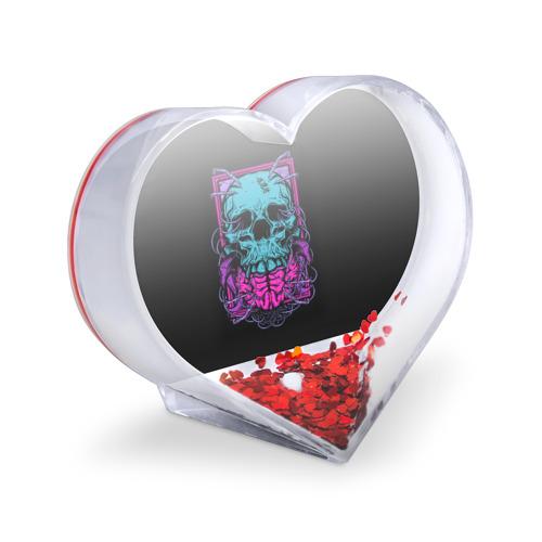 Сувенир Сердце  Фото 03, Кислотный череп