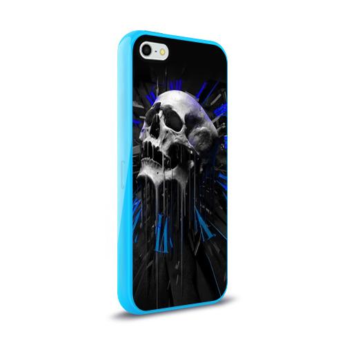 Чехол для Apple iPhone 5/5S силиконовый глянцевый  Фото 02, Череп