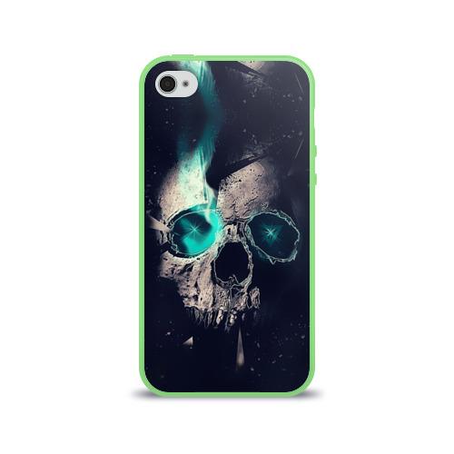 Чехол для Apple iPhone 4/4S силиконовый глянцевый  Фото 01, Skull eyes