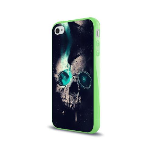 Чехол для Apple iPhone 4/4S силиконовый глянцевый  Фото 03, Skull eyes