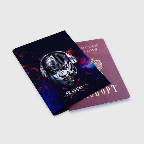 Обложка для паспорта матовая кожа Пиратская станция Фото 01