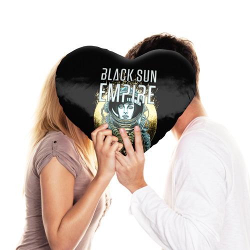 Подушка 3D сердце  Фото 03, Black Sun Empire