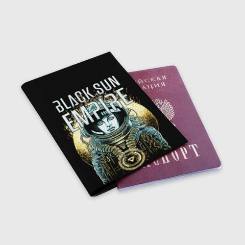 Обложка для паспорта матовая кожа  Фото 03, Black Sun Empire