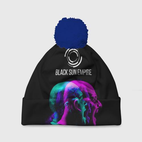Шапка 3D c помпоном Black Sun Empire