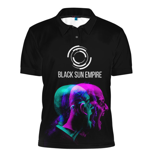 Мужская рубашка поло 3D Black Sun Empire