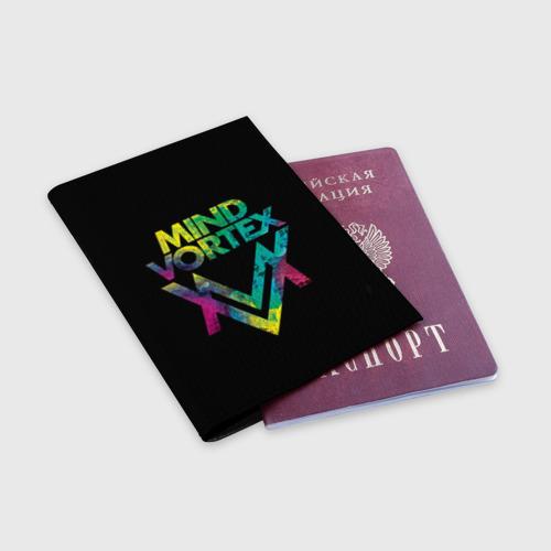 Обложка для паспорта матовая кожа  Фото 03, MIND VORTEX