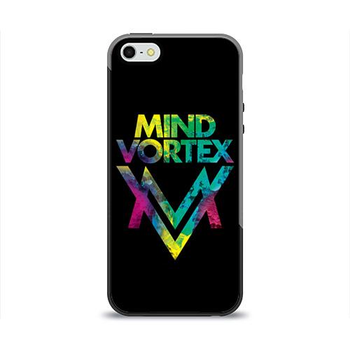 Чехол силиконовый глянцевый для Телефон Apple iPhone 5/5S MIND VORTEX