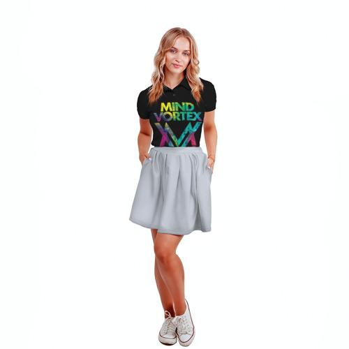 Женская рубашка поло 3D  Фото 04, MIND VORTEX