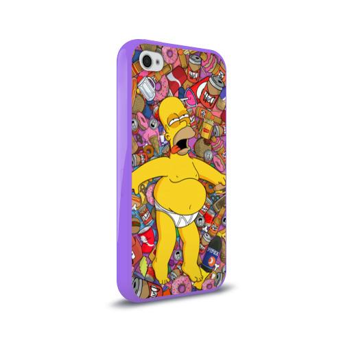 Чехол для Apple iPhone 4/4S силиконовый глянцевый  Фото 02, Гомер