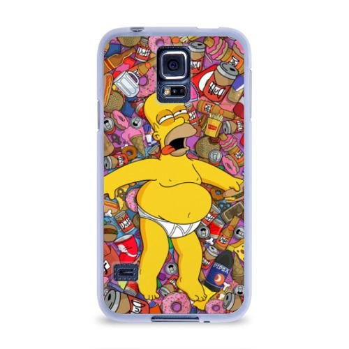 Чехол для Samsung Galaxy S5 силиконовый  Фото 01, Гомер