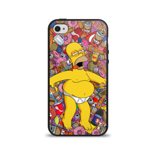 Чехол для Apple iPhone 4/4S силиконовый глянцевый Гомер от Всемайки