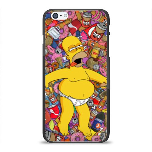 Чехол для Apple iPhone 6/6S Plus силиконовый глянцевый Гомер от Всемайки