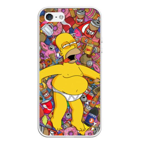 Чехол для Apple iPhone 5/5S силиконовый Гомер от Всемайки