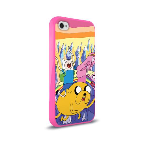 Чехол для Apple iPhone 4/4S силиконовый глянцевый  Фото 02, Время приключений