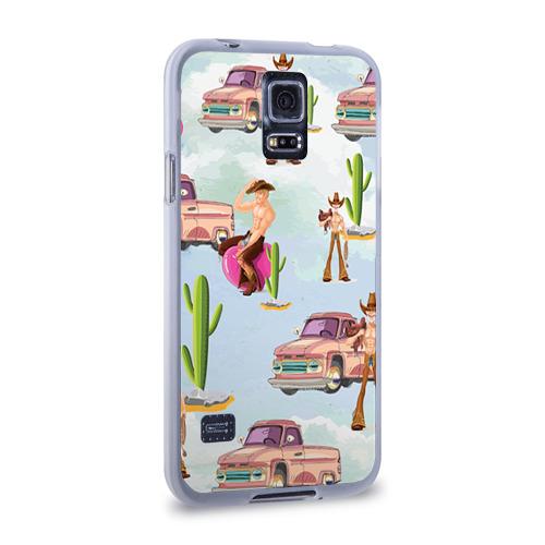 Чехол для Samsung Galaxy S5 силиконовый  Фото 02, Ковбой
