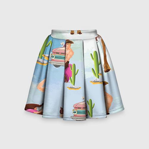 Детская юбка-солнце 3D Ковбой