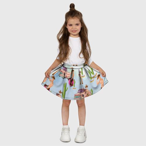 Детская юбка-солнце 3D  Фото 03, Ковбой