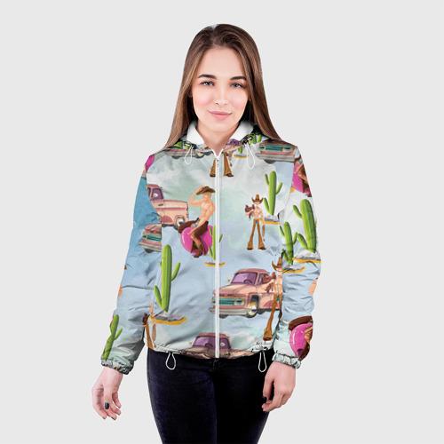 Женская куртка 3D  Фото 03, Ковбой