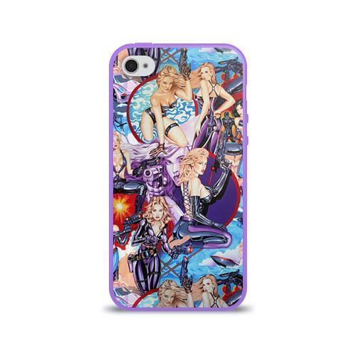 Чехол для Apple iPhone 4/4S силиконовый глянцевый  Фото 01, Девушки