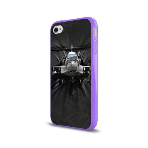 Чехол для Apple iPhone 4/4S силиконовый глянцевый  Фото 03, Вертолет
