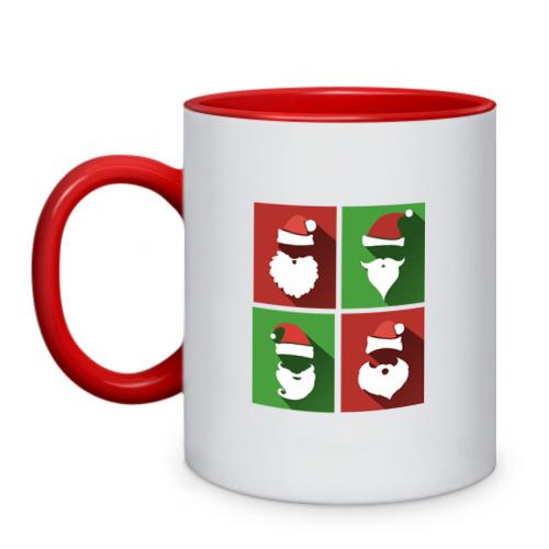Кружка двухцветная Деды Морозы от Всемайки