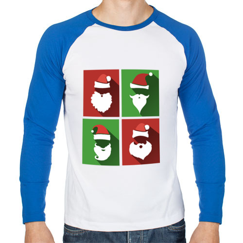 Мужская футболка реглан с длинным рукавом Деды Морозы от Всемайки