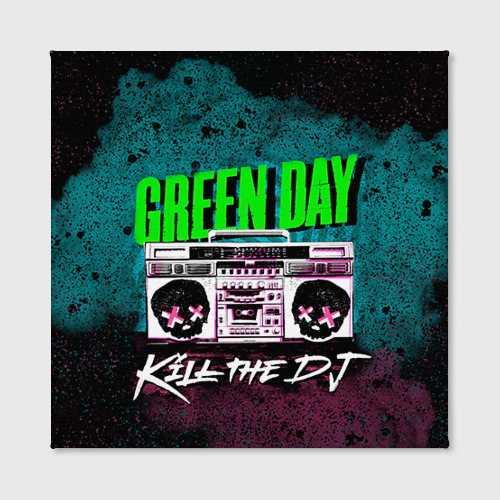 Холст квадратный Green Day Фото 01