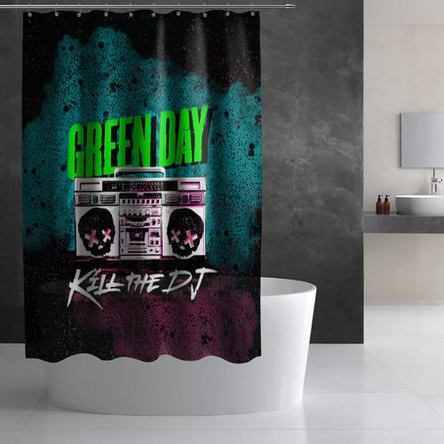 Штора 3D для ванной Green Day Фото 01
