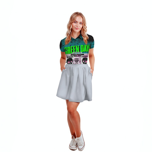 Женская рубашка поло 3D Green Day Фото 01