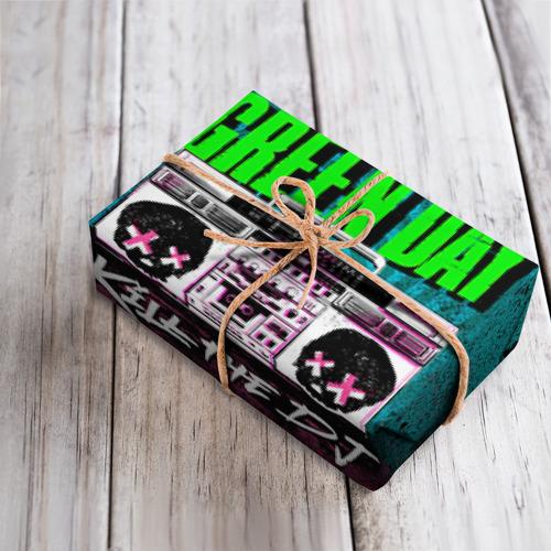 Бумага для упаковки 3D Green Day Фото 01