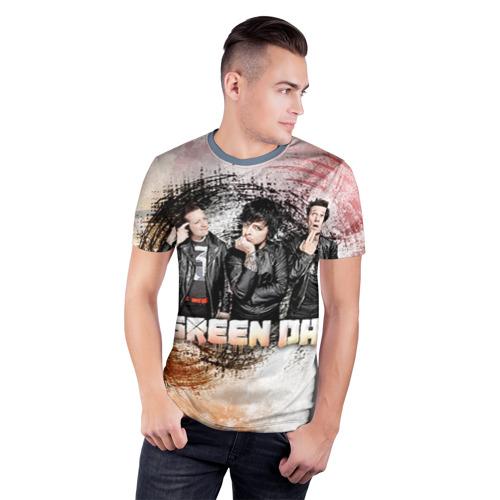 Мужская футболка 3D спортивная Green Day Фото 01