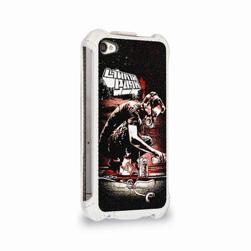 Чехол для Apple iPhone 4/4S flip  Фото 02, Linkin Park